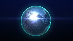 Rotating earth, expanding global communication, 3D rendering. Stock Footage