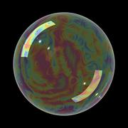 Realistic soap bubble Stock Illustration