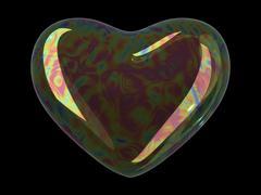 Heart shaped soap bubble Stock Illustration