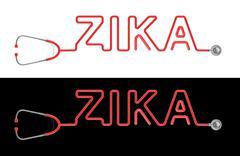 Stethoscope ZIKA type - stock illustration