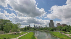 Chicago Skyline from Lincoln Park Stock Footage