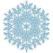 Pretty Round Snowflake Stock Illustration