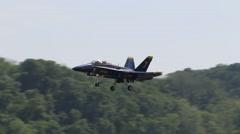 Blue Angels F/18 Hornet landing Stock Footage