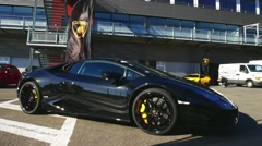 Lamborghini Huracan LP 610-4 coupe sports car Stock Footage