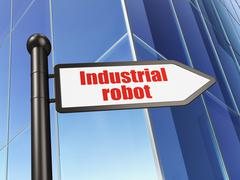 Industry concept: sign Industrial Robot on Building background Piirros
