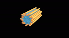 Centriole animation. Stock Footage