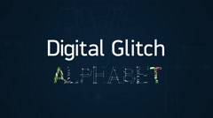 Digital glitch alphabet Stock After Effects