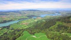 4K Switzerland wonderland aerial shot Stock Footage