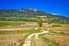 Idyllic landscape of Kalnik mountain, Croatia Stock Photos