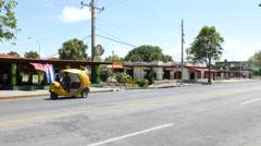 Varadero Cuban Mini Taxis Stock Footage