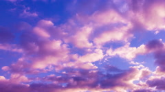 pink sunset clouds time lapse 275 - stock footage