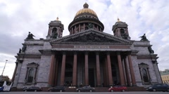 St. Isaac's Cathedral in St. Petersburg Stock Footage