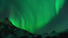 Northern Light time lapse Stock Footage