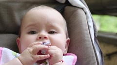Cleaning Up A Baby Nose - stock footage