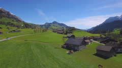 4K alpine countryside aerial shot Stock Footage