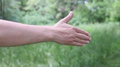 Man proposing handshake - stock footage