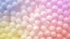 Colorful cotton swabs movement Stock Footage