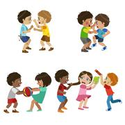 Kids Bullies Illustration - stock illustration