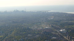 Toronto Aerial From the North Stock Footage