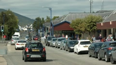 Aviemore high street timelapse, Scotland Stock Footage
