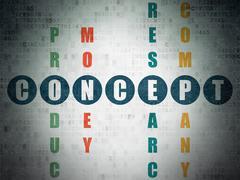 Marketing concept: Concept in Crossword Puzzle - stock illustration