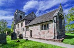 generic english village parish church - stock photo