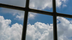 View trough prison window, Time lapse,6k Stock Footage