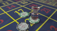 Casino, detour, camera chips with Dolly on roulette, S-Log Stock Footage