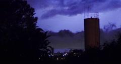 Several storm. Building, city, rainy day. Night, lightning Stock Footage