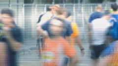 Surveillance Camera Runners Stock Footage