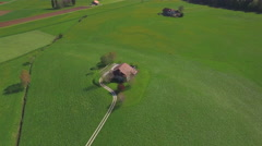 4K Lovely farm aerial shot Stock Footage