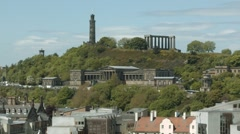 Calton Hill, Edinburgh Stock Footage