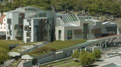 Scottish Parliament, Edinburgh Stock Footage