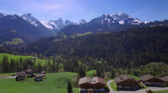 4K Swiss alps aerial shot Stock Footage