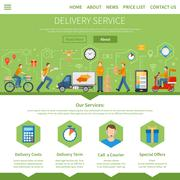 Delivery Service And Courier Page - stock illustration