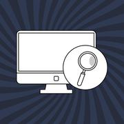 Technology icon. security system concept. Flat illustration , vector - stock illustration