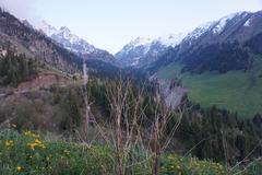 Shymbulak Mountains near Almaty, Kazakhstan Stock Photos