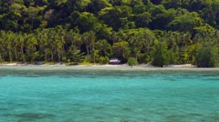 Beautiful island with blue bay. Philippines Stock Footage