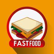 Fast Food design. Menu icon. Colorfull illustration , vector graphic - stock illustration