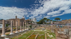 Rome, Italy - ancient Roman Forum timelapse hyperlapse, UNESCO World Heritage - stock footage