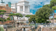 Rome, Italy - ancient Roman Forum timelapse, UNESCO World Heritage Site - stock footage