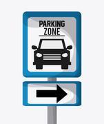 Parking lot design. Park icon. White background  , vector graphic - stock illustration