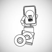 Idea design business concept. Colorful illustration , vector graphic - stock illustration