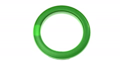 Green ring loading symbol with moving hotspot Stock Footage