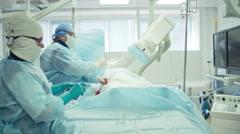 Heart Bypass Surgery Procedure Stock Footage