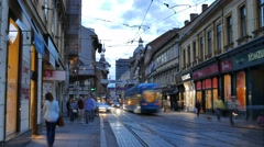 Zagreb narrower center, Ilica street. Croatia. Stock Footage
