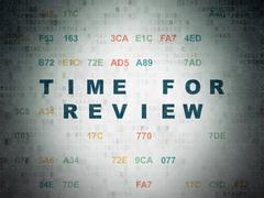 Timeline concept: Time for Review on Digital Data Paper background - stock illustration