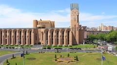 Time lapse video clip, Armenia Yerevan Stock Footage