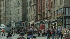 The Royal Mile, Edinburgh Stock Footage