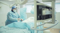 Surgeon Performing Heart Bypass Stock Footage